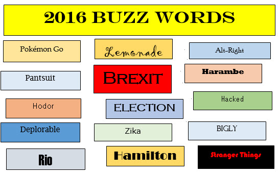 2016 Buzz Words