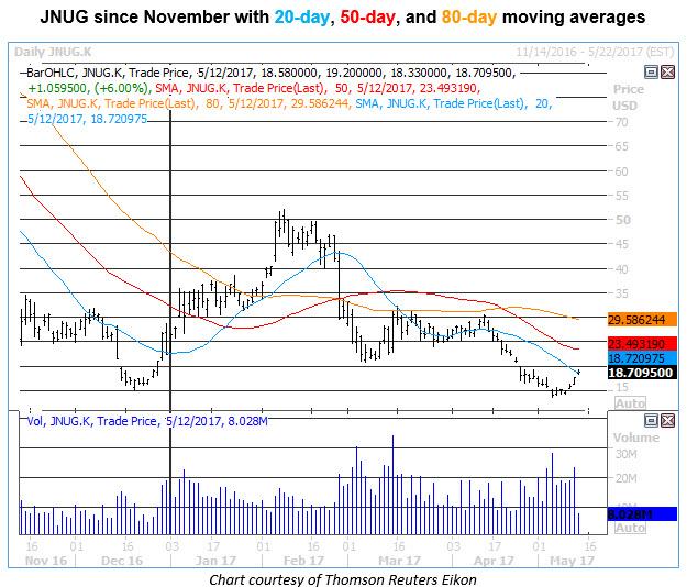 jnug daily price chart 0512