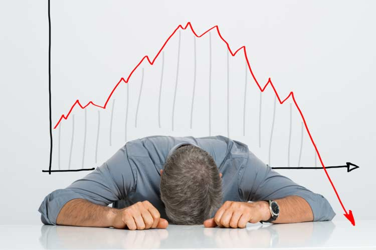 Trader during  market crash